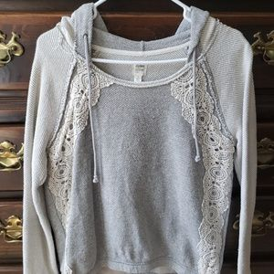 Boutique lace hoodie